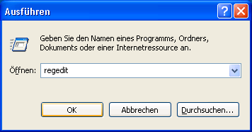 Windows XP: Registrierung abändern