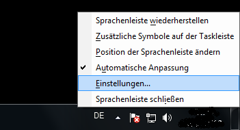 Windows 7: Spracheinstellungen ändern